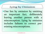 lying by omission