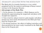 stability analysis with the bode plot
