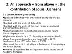 2 an approach from above the contribution of louis duchesne