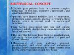 biophysical concept