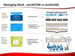 managing work workflow vs workload