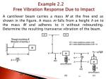 example 2 2 free vibration response due to impact