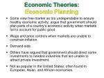 economic theories economic planning
