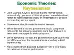 economic theories keynesianism