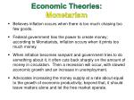 economic theories monetarism