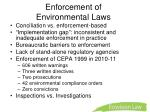enforcement of environmental laws
