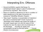 interpreting env offences