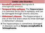 limbic lobe disorders