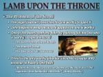 lamb upon the throne1