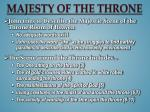 majesty of the throne
