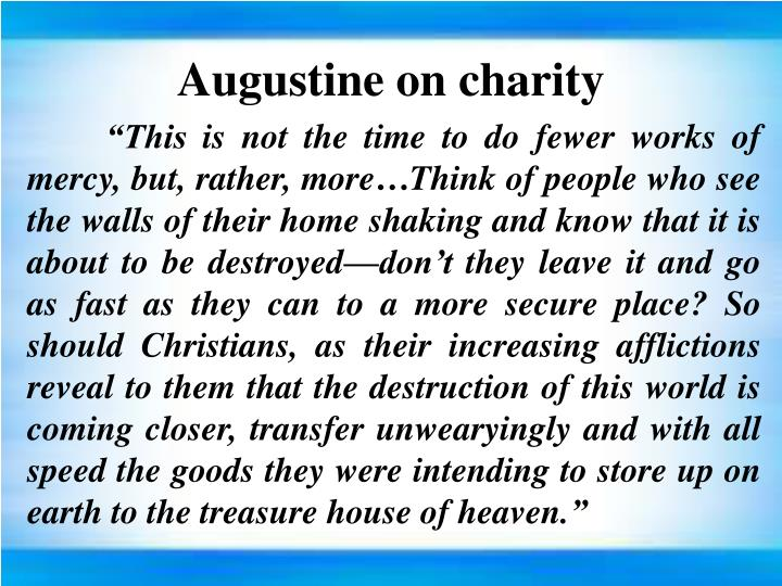 Augustine on charity