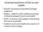 growing importance of qur an and hadith
