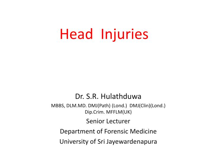 head injuries n.