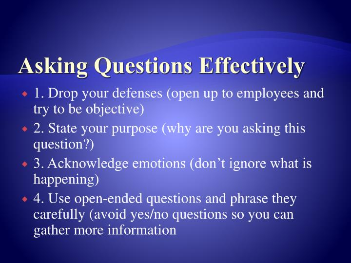 Asking Questions Effectively
