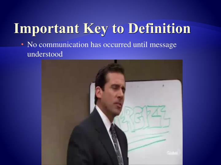 Important Key to Definition