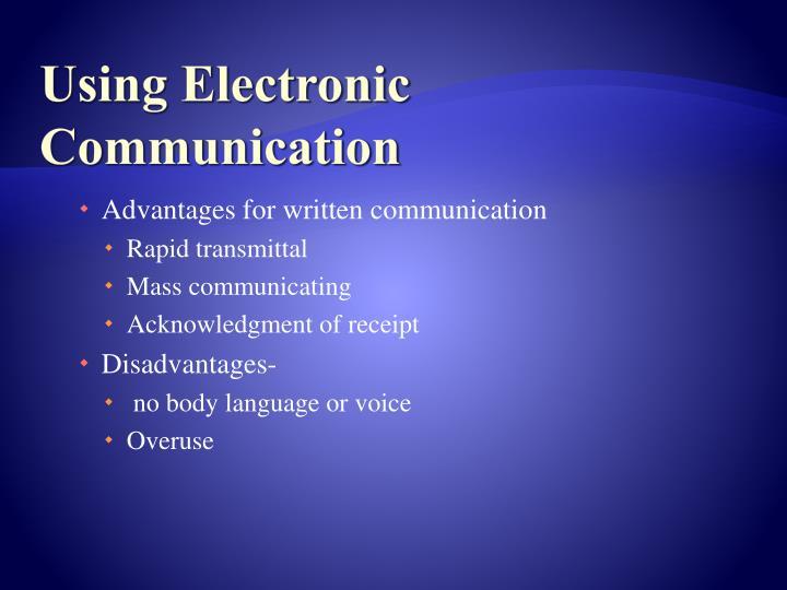 Using Electronic Communication