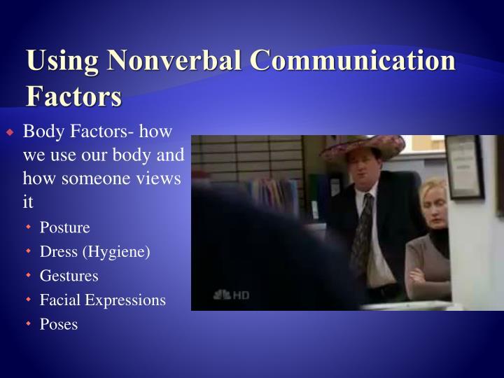 Using Nonverbal Communication Factors