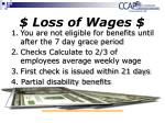loss of wages
