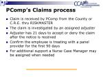 pcomp s claims process