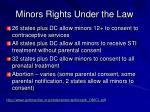 minors rights under the law