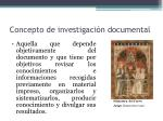 concepto de investigaci n documental