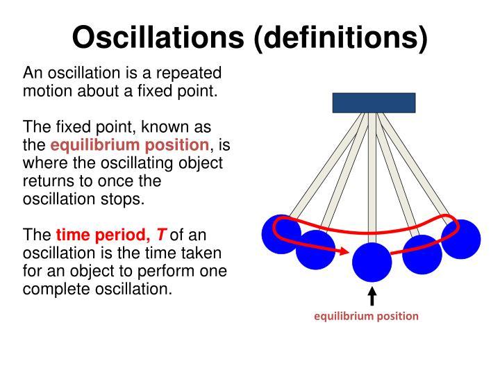 Oscillations (definitions)