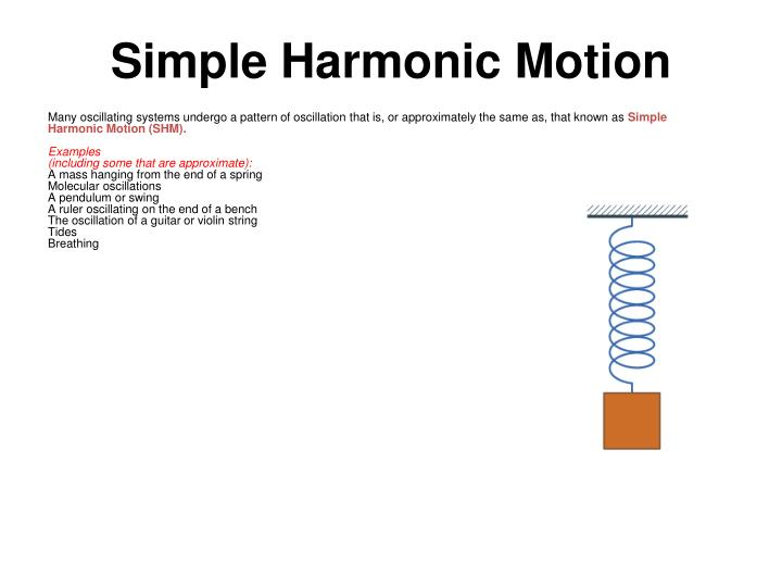 Many oscillating systems undergo a pattern of oscillation that is, or approximately the same as, that known as
