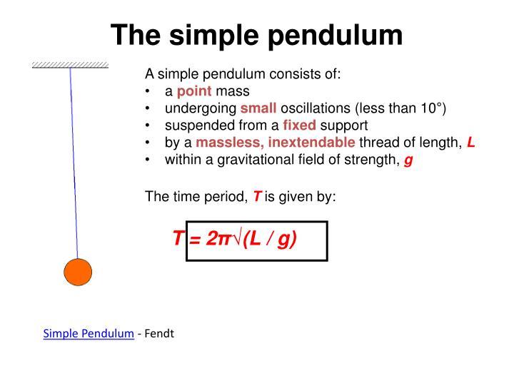 A simple pendulum consists of: