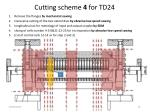 cutting scheme 4 for td24