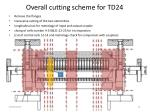 overall cutting scheme for td24