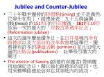 jubilee and counter jubilee