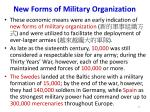 new forms of military organization