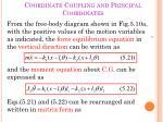 coordinate coupling and principal coordinates1