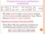 coordinate coupling and principal coordinates2