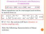 coordinate coupling and principal coordinates3
