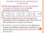 coordinate coupling and principal coordinates4