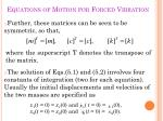 equations of motion for forced vibration2