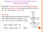 example 5 4 natural frequencies of torsional system