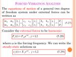 forced vibration analysis