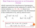 free vibration analysis of an undamped system2