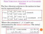 free vibration analysis of an undamped system4