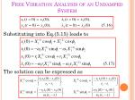 free vibration analysis of an undamped system6