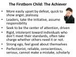 the firstborn child the achiever1