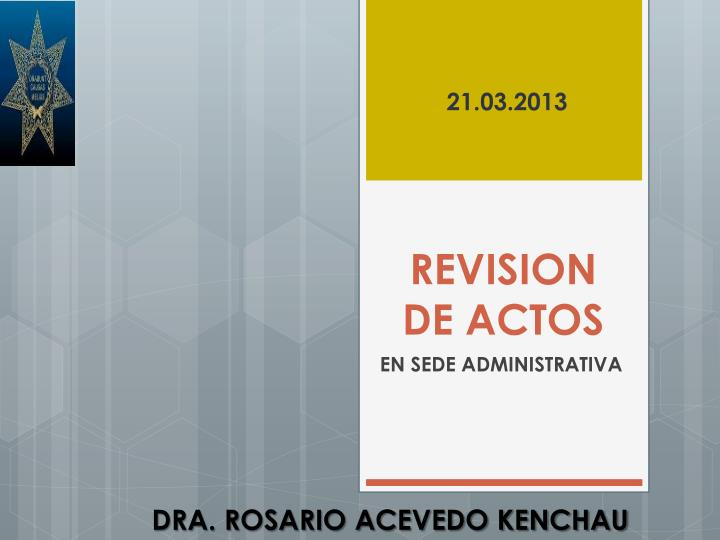 revision de actos n.