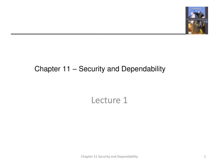 chapter 11 security and dependability n.