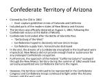 confederate territory of arizona