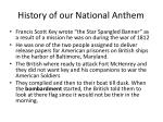 history of our national anthem