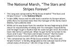 the national march the stars and stripes forever