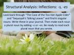 structural analysis inflections s es1