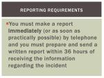reporting requirements1